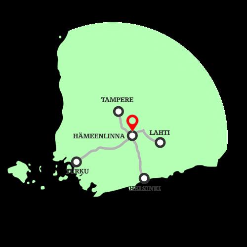 kartta Hämeenlinna sijainti